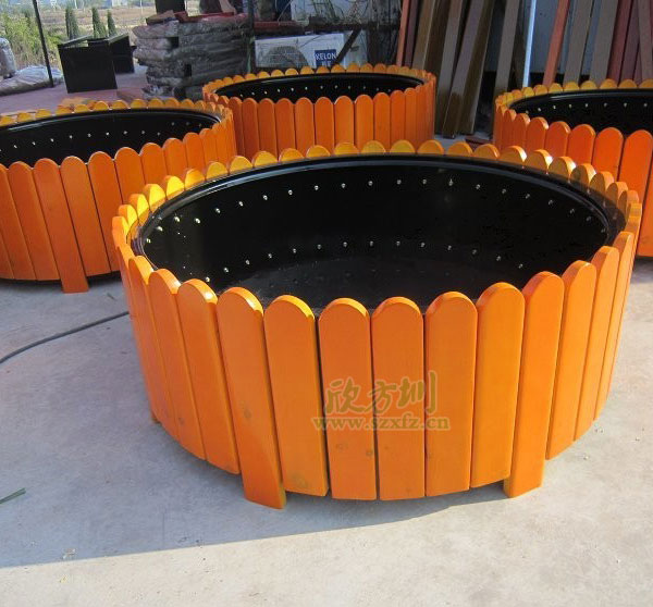 x48圆形木质花箱