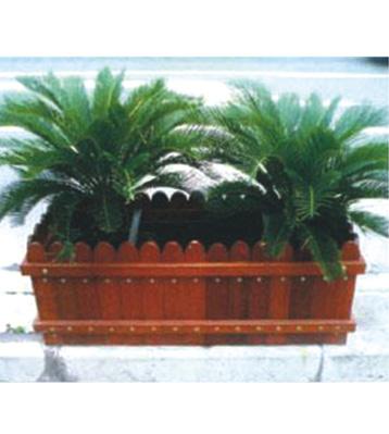 方形木质花箱