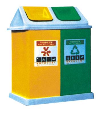 A23玻璃钢分类垃圾桶
