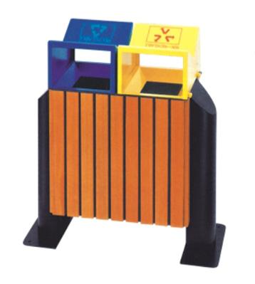 g40环保钢木分类垃圾桶