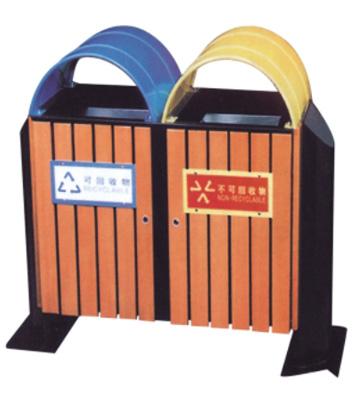 g42环保钢木分类垃圾桶