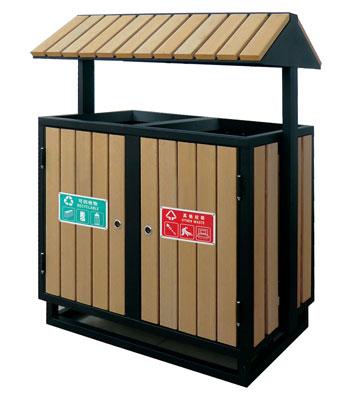 G78屋形钢木分类垃圾箱