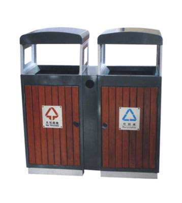 产品名称:钢木分类垃圾桶