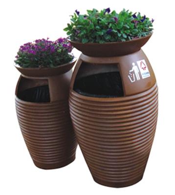 A90玻璃钢花盆式组合垃圾桶