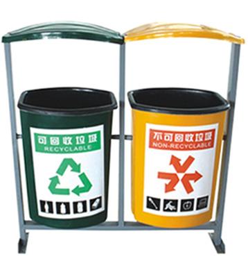 A57玻璃钢分类垃圾箱