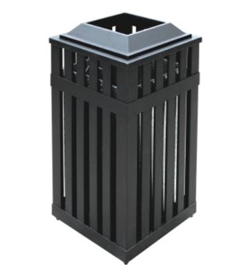 钢板冲孔垃圾桶采用优质冷轧钢材料经剪钣下料