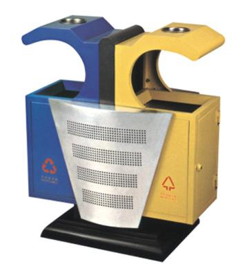f156钢板分类垃圾桶