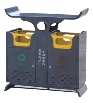 户外钢板分类垃圾桶