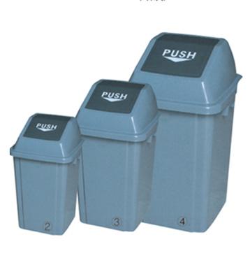 方形垃圾桶(灰/咖啡)