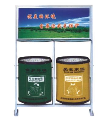 新型环保户外广告垃圾桶