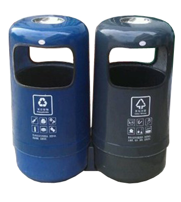 A89-2玻璃钢分类垃圾桶