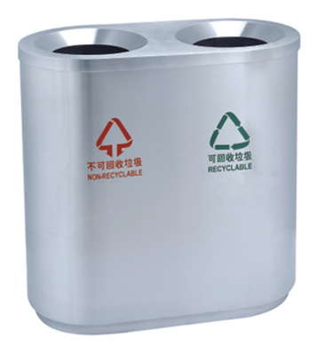 JP08机场商场不锈钢分类桶