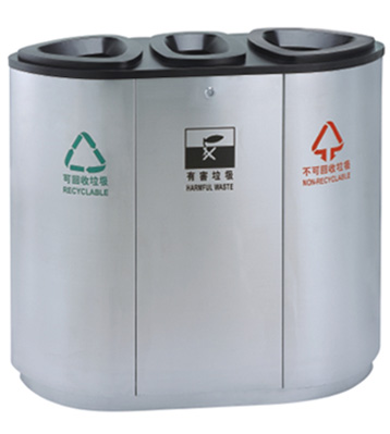 JP11商场三分类垃圾箱