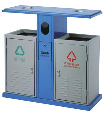 f204环保钢板垃圾桶