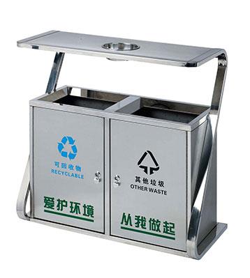 ljc-c022四分类不锈钢垃圾桶