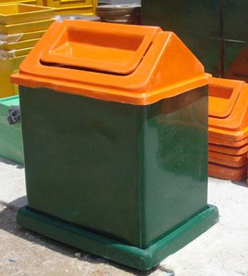 a03玻璃钢摇盖垃圾桶