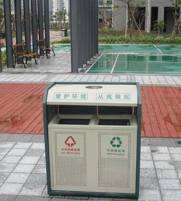 钢板分类垃圾桶-欣方圳钢板分类垃圾桶厂家
