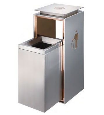 c413室内不锈钢垃圾桶