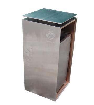 c413室内不锈钢垃圾桶图片