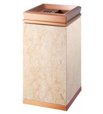 d413-b玫瑰金钛金垃圾桶