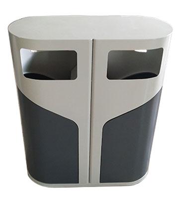 F331侧开门钢制分类垃圾桶