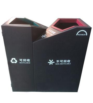 F298喷塑分类垃圾箱