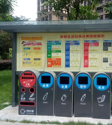 深圳小区1+4分类la圾tong