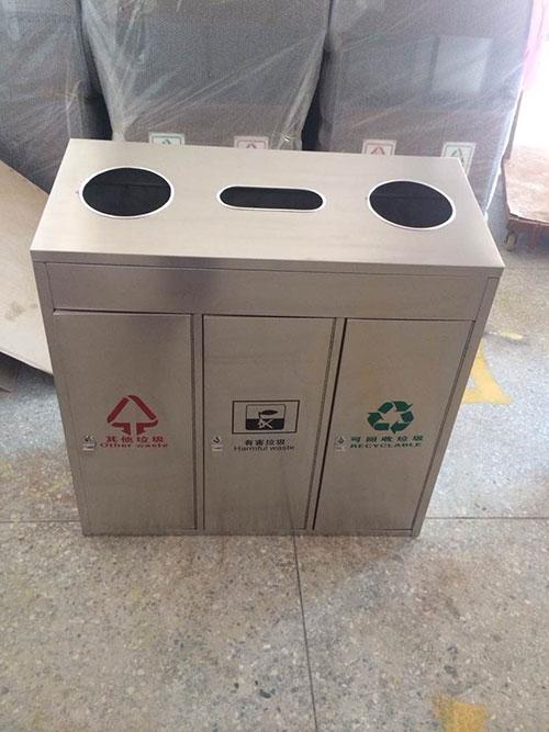 云浮商场物业选择不锈钢垃圾桶高端大气