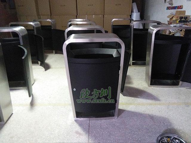 不锈钢果皮箱垃圾桶厂家湖南长沙中建地产采购
