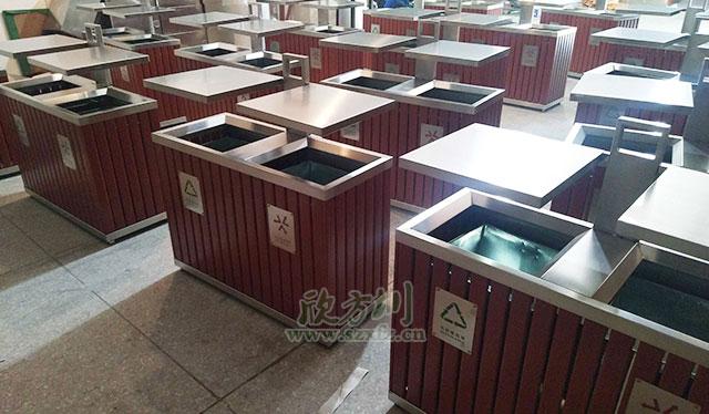 钢木户外垃圾桶可解决龙兴古镇配备不足