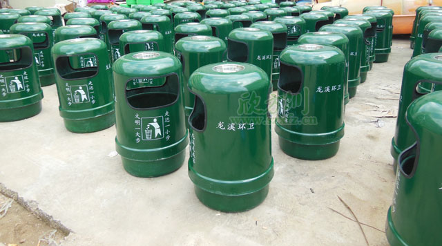玻璃钢户外垃圾桶改善惠州龙溪居住环境