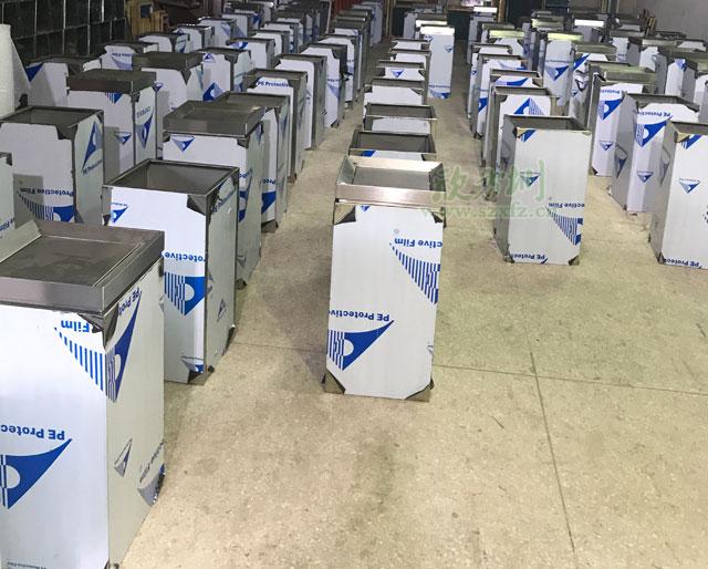商场垃圾桶-商场不锈钢垃圾桶定制生产图