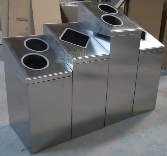江西南昌商场不锈钢分类环保回收桶垃圾轻松分类