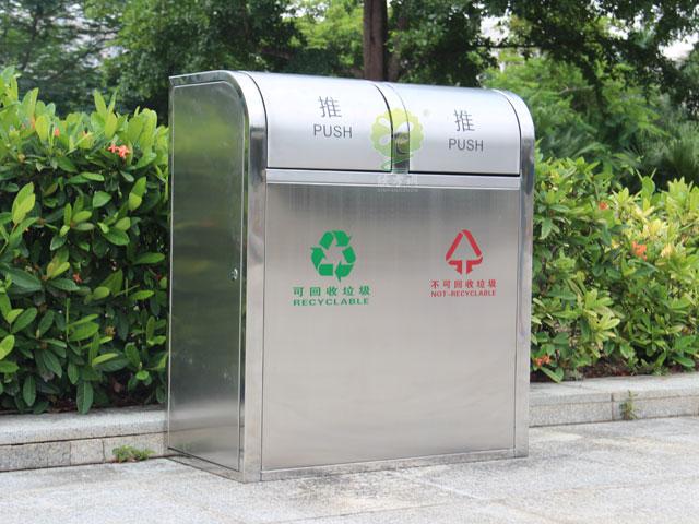 环保分类垃圾tong-不锈钢分类环保垃圾tong厂家