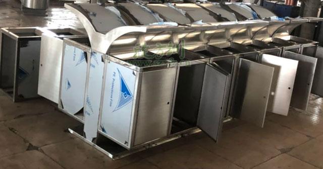 展翅不锈钢垃圾桶厂家款式新颖深圳龙岗城管局定制批量生产半成品图