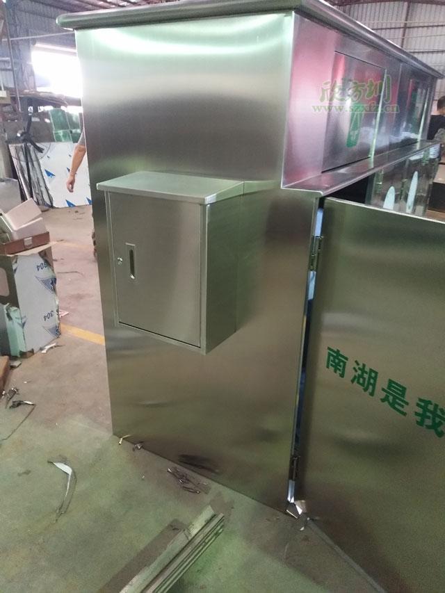 深圳社区这种大型户外不锈钢垃圾箱将很常见