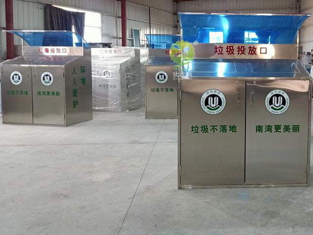 深圳龙岗街道dingzhi户wai带雨棚bu锈钢大容量垃圾桶