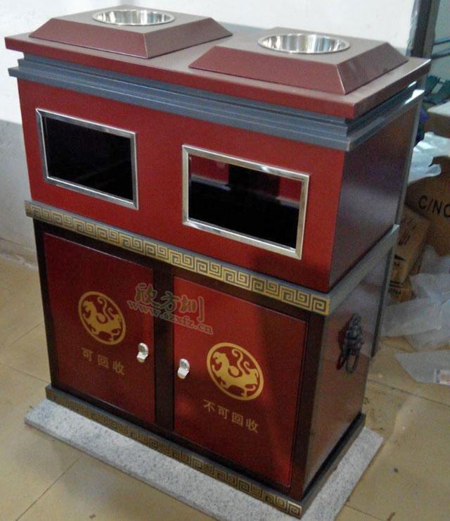 户外钢板分类垃圾桶厂家直销为广西南宁企业省钱