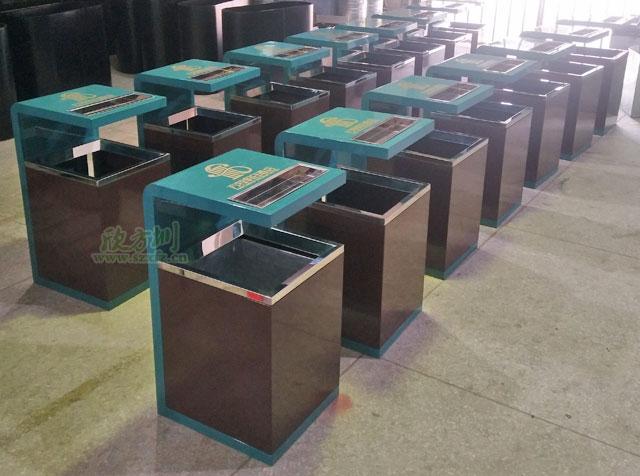 酒店钢制烤漆垃圾桶厂家生产工艺