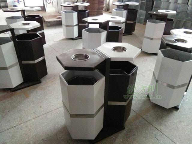 惠州企业选择本土钢制垃圾桶厂家定制六边形桶