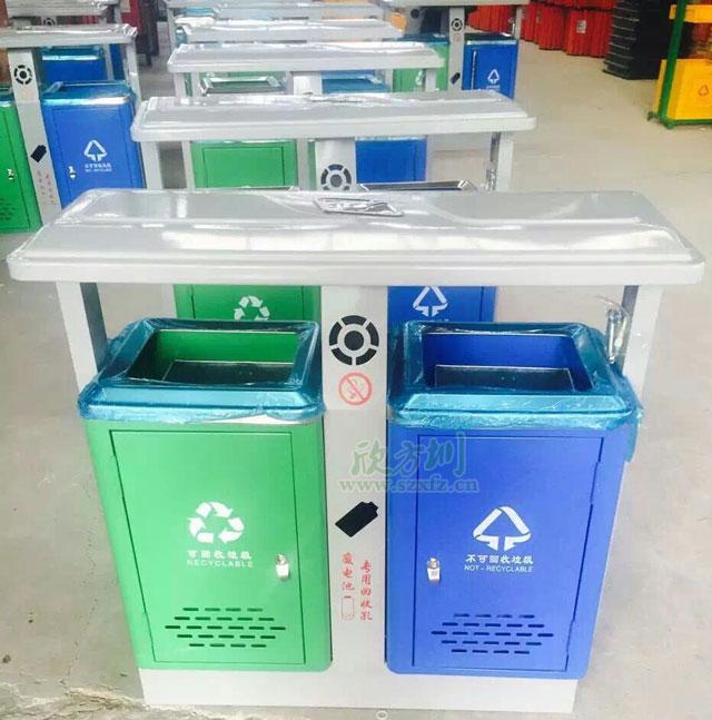 钢制环保户外垃圾桶深圳沙井物业只信赖专业厂家