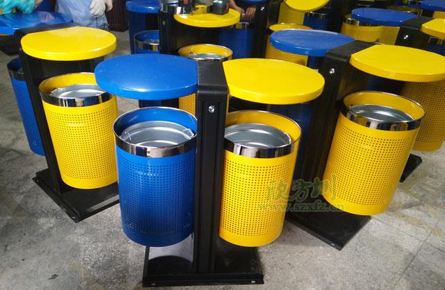 钢制冲孔户外垃圾桶透气环保湖南株洲市场选购