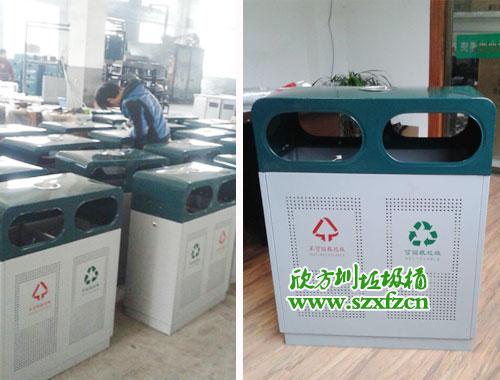 【广东深圳】国家专业造币企业订购欣方圳钢板垃圾桶