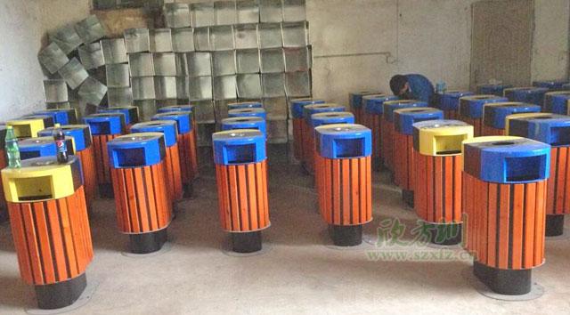 环保钢木分类垃圾桶-欣方圳钢木垃圾桶厂家