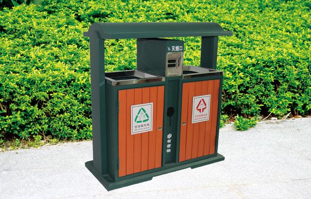 珠海金湾区红旗镇市政定制钢木分类垃圾桶