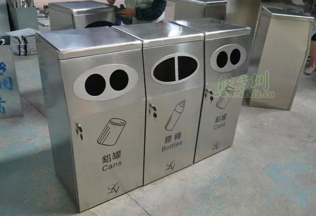 三分类不锈钢垃圾桶云南丽江购物广场采购