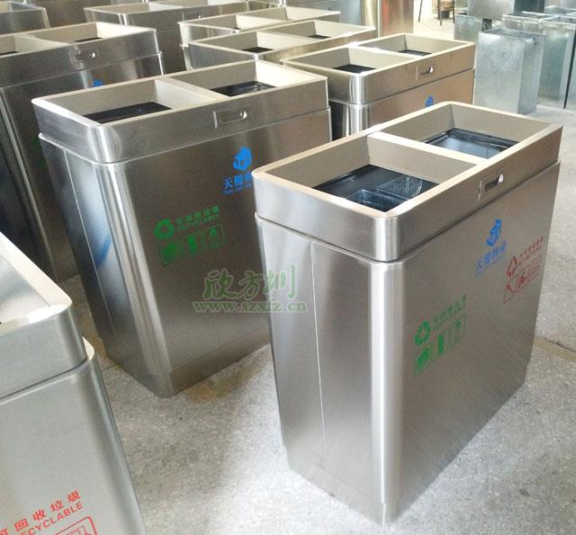 深圳物业不锈钢垃圾桶厂家生产图