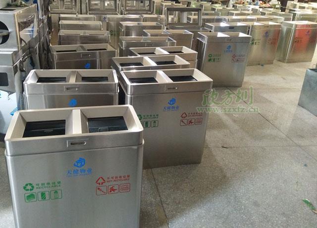 深圳物业不锈钢垃圾桶厂家批量生产图