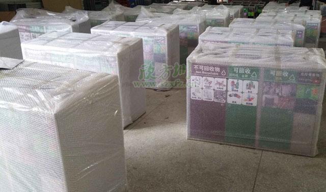 广州小区物业不锈钢分类果皮箱精准收集环卫垃圾