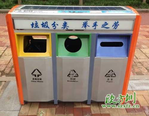 浅谈分类垃圾桶的作用图片
